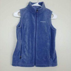 Columbia Polar Fleece Jacket Vest Zip-Up M #3409